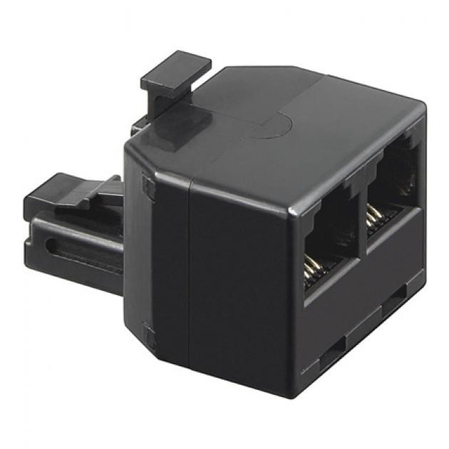 Accoppiatore telefonico duplex 6P6C M a 2 x 6P6C F