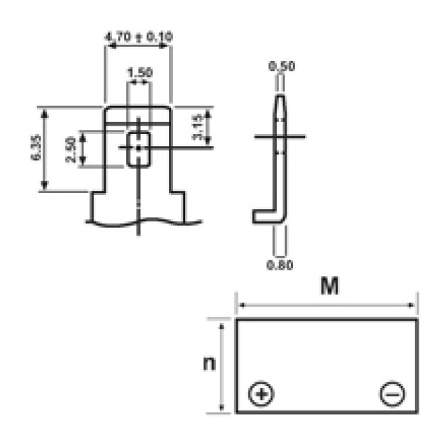Batteria tampone di ricambio Piombo-Acido per UPS 12 V 2,3 Ah