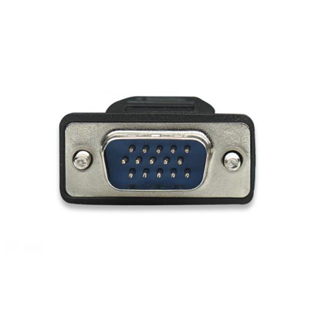 Cavo monitor SVGA standard M/M 1,8 mt NERO