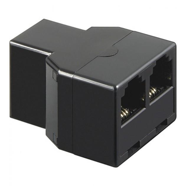 Accoppiatore telefonico duplex 6P4C F a 2 x 6P4C F