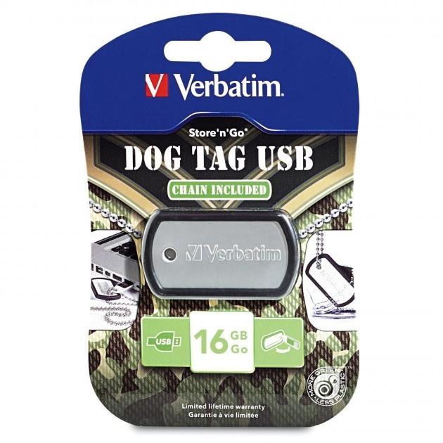 MEMORIA USB VERBATIM TARGHETTA MILITARE 16 gb