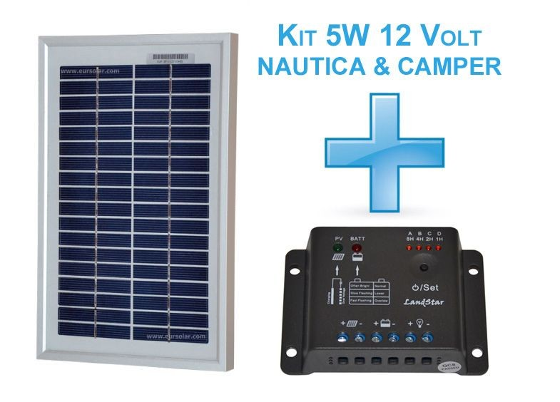 Kit nautica-Camper modulo 5W + regolatore 5A -