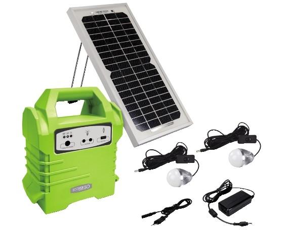 ECOBOXX 50 kit solare 50Wh 5W con batteria 4Ah