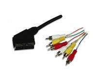 Cavo Audio video Scart RCA 2 Mt IN/Out