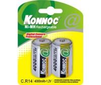 Blister 2 batterie mezza torcia C 4000 mAh