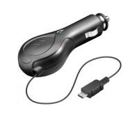 Alimentatore da auto (12/24V) Micro-USB con cavo retrattile