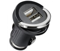 Adattatore compatto 2 x USB per presa accendisigari 2100mA