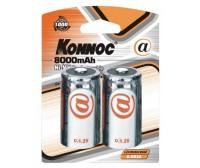Blister 2 batterie torcia D 8000 mAh