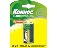 Blister 1 batteria 6F22 9V 220 mAh Nm-Hi ricaricabile