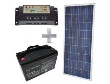 Kit fotovoltaico Stand Alone 12V-140W - Batteria 100A